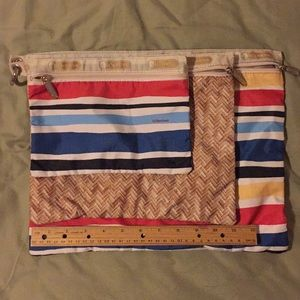 LesportSac three interlocked zipper pouches.